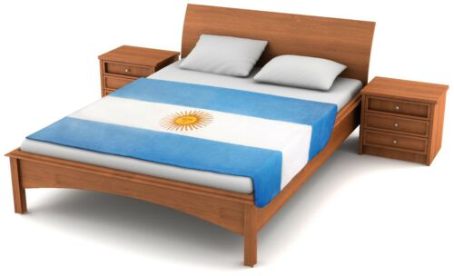 "Fuzzy Flags™ Fleece Argentina Flag Blanket 80/"" x 50/"" Oversized Throw Cover *NEW*"