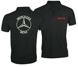 Mercedes-Benz-AMG-Ventilateur-Club-Sport-Voiture-Brode-Homme-Chemise-Polo-Top