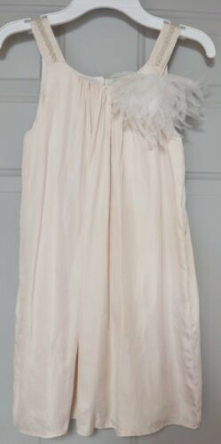 BUMBLE GIRLS DRESSY SUMMER DRESS FLAPPER STYLE BLUSH PINK SLEEVELESS EMBELLISHED