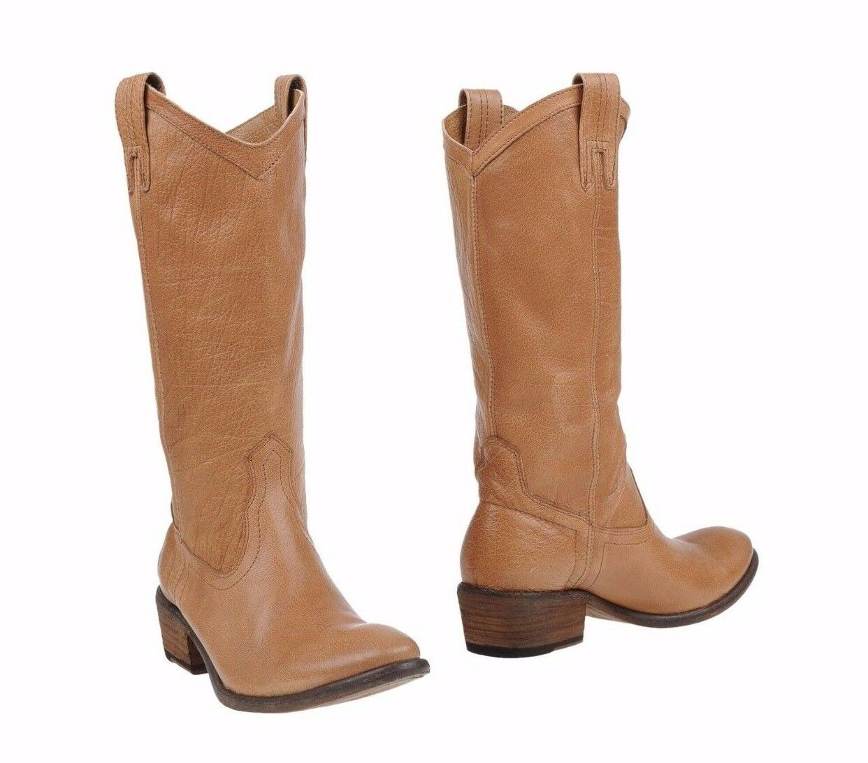 FRYE SHOES CARSON PULL ON BOOTS BOOTS ON TAN LIGHT BROWN LEATHER 77687 7 $378 NEW NIB 02e2bd