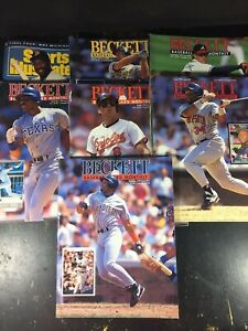 Beckett-Baseball-Monthly-Magazine-Lot-7-Sports-Illustrated-1992-Issues