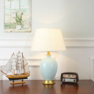 Modern-Ceramic-Table-Lamp-Brass-Base-Reading-Light-Bedsiade-Large-Desk-Lighting