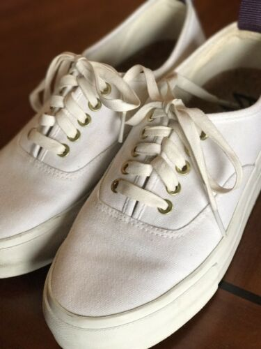 EYTYS MOTHER White Canvas Sneaker Trainers $160 Ca