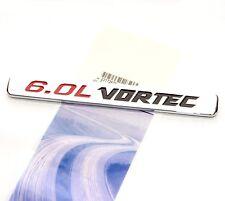 1x OEM 6.0L VORTEC emblem Badge 3D for Silverado Chevy 1500 2500 HD F2U Chrome q
