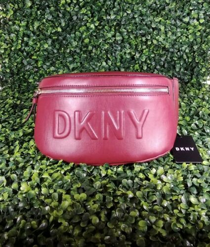 DKNY Tilly Debossed Logo Belt Bag In Scarlet