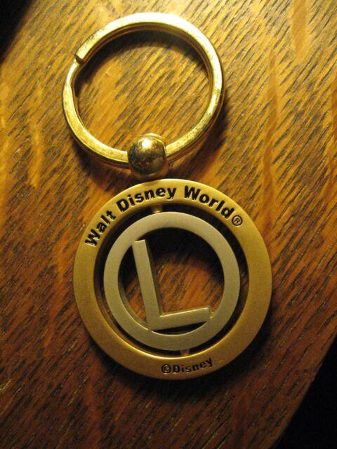 "Walt Disney World Keychain - Fla. Amusement Park Monogram ""L"" Souvenir Key Ring"