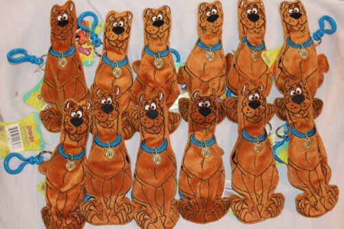 """NEW WITH TAGS  LOT OF 12  SCOOBY DOO 7/"""" PLUSH CARTOON NETWORK KEYCHAIN"""