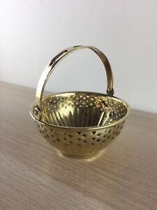 Vintage-Polished-Brass-Pierced-Design-Basket-Planter-with-Swing-Handle-display