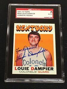 HOF LOUIE DAMPIER 1971-72 TOPPS ROOKIE SIGNED AUTOGRAPHED CARD 224 SGC AUTHENTIC