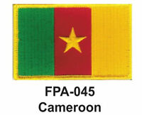2-1/2'' X 3-1/2 Cameroon Flag Embroidered Patch