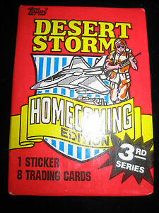 Desert Storm Homecoming Edition Trading Card Wax Pack Vintage 1991 Topps 3rd