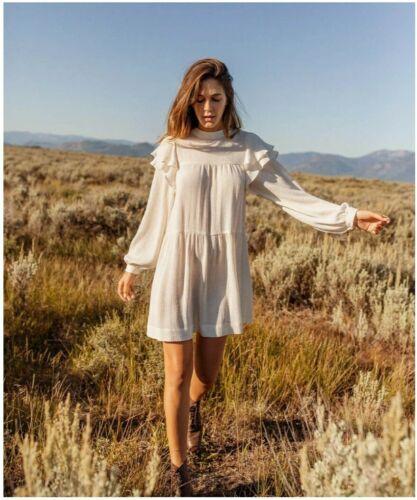 Christy Dawn Harriet Dress in Alabaster XS  mini r