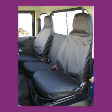 Land Rover Defender 90 110 1983-07 Tailored Rear Fold-Up Dicky Seat Covers Black