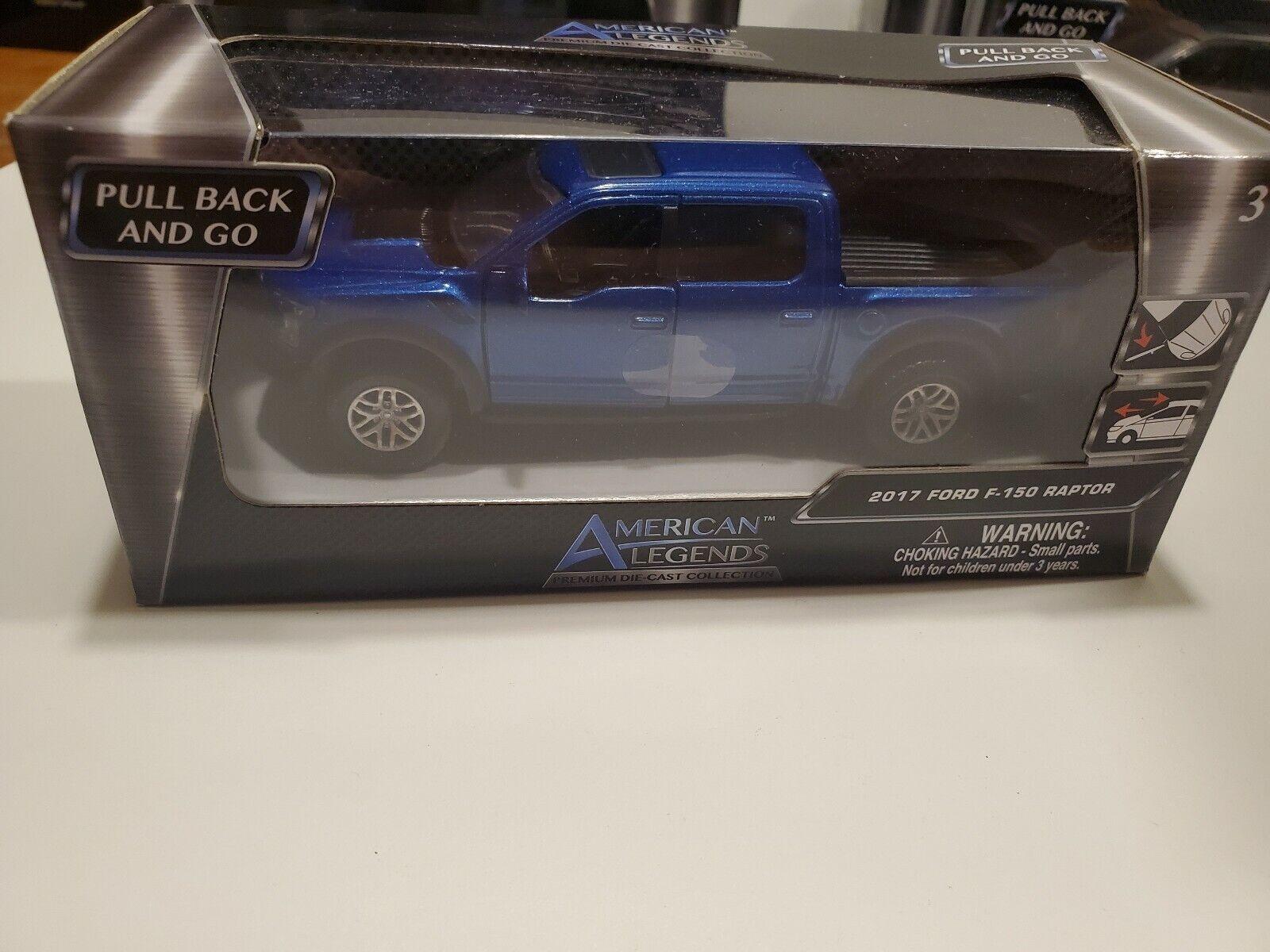 American Legends 2017 Ford F-150 Raptor Blue 1:43 New