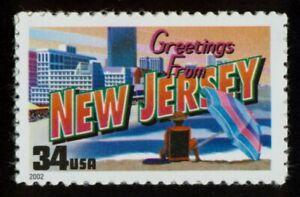 #3590 34c Tarjetas De Nuevo Jersey, Nuevo Cualquier 5=