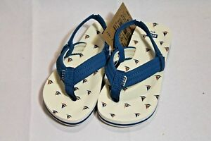 b3c7f0f5c NWT Toddler boys Reef Ahi thong sandals with back strap blue boat