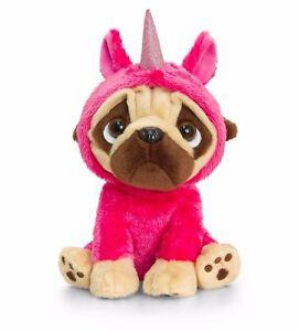 Keel Toys Pugsley 20cm Unicorn Pug Dog Cuddly Soft Toy Teddy Sf1227