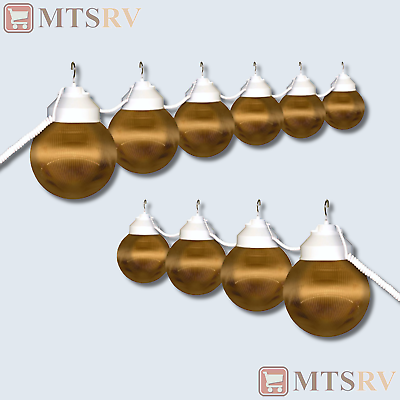 Polymer Awning RV Patio Party Globe String Lights - BRONZE ...
