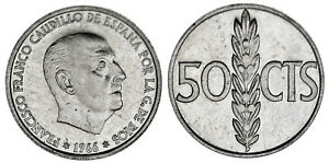 50-CENT-50-CENTIMOS-Al-FRANCO-ESTADO-ESPANOL-1966-70-PROOF-LIKE-ESCASA