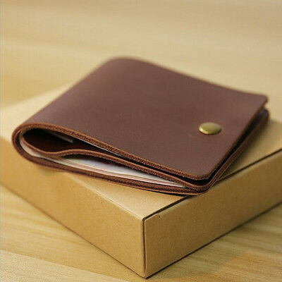Wallet Slim Money Clip Credit Card Holder ID Business Mens Genuine Leather