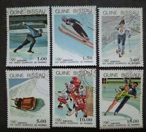 Guine-Bissau-1983-Winter-Olympic-Games-Sarajevo-Bosnia-amp-Herzegovina-6v-Used