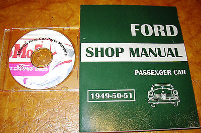 1949 1950 1951 Mercury Shop Manual 49 50 Parts Book CD Repair Service and Part
