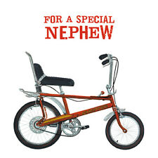 "NEPHEW BIRTHDAY CARD ""RED 'CHOPPER' BICYCLE"" SIZE 6.25"" x 6.25"" AGRI 9963"