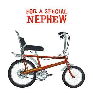 Nephew-Birthday-Card-034-Red-039-Chopper-039-Bicycle-034-Size-6-25-034-x-6-25-034-AGRI-9963