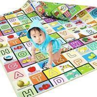 Baby Kid Toddler Crawl Foam Soft Play Game Mat Carpet Picnic Education 100X180cm