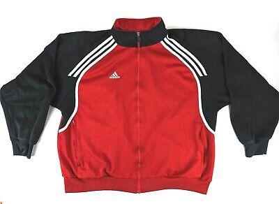 Adidas Mens Warmup Track Jacket Full Zip Black Red White RN# 88387 CA#40312, XL | eBay