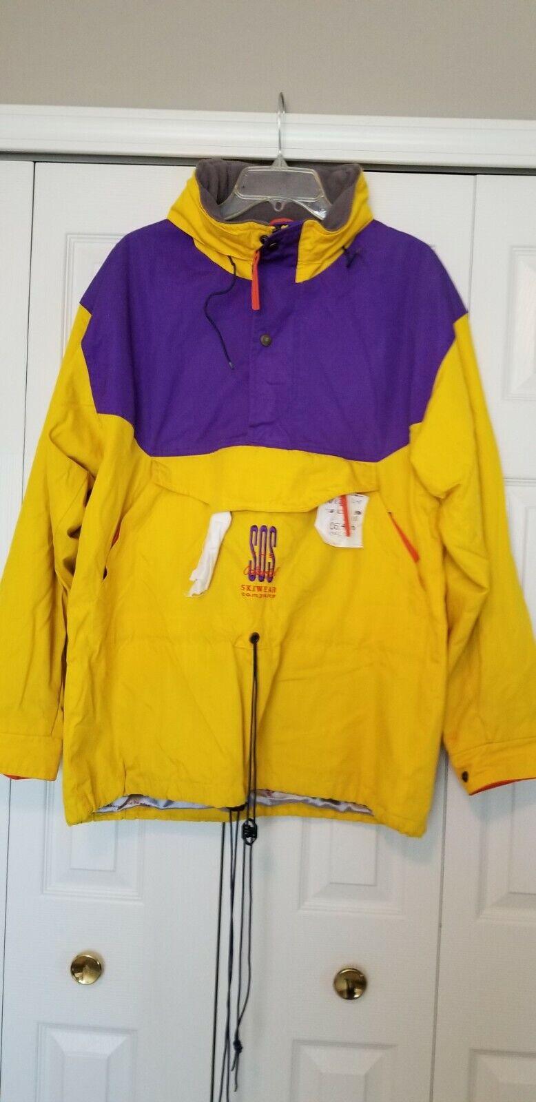 90/'s SOS Polarfleece Ski Jacket Men/'s Large