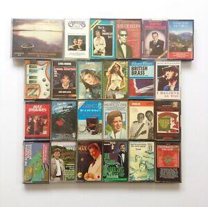 Vintage-Music-Cassette-Bundle-Various-Genres-Tapes-x25-Pop-Classical-Christmas