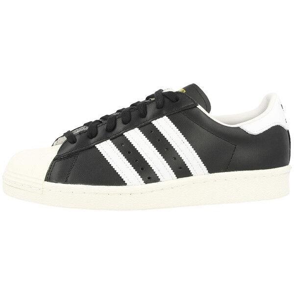 Zapatos promocionales para hombres y mujeres Adidas Superstar 80s Schuhe Retro Sneaker black white G61069 Samba Spezial