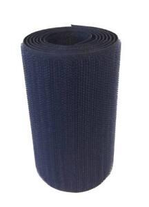 1m-Cinta-cierre-coser-100mm-azul-marino-pincho-fijacion-agarre-textil-militar