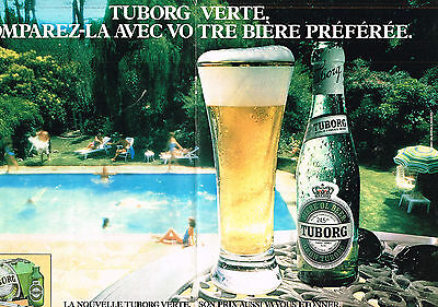 Double Page Publicite Advertising 034 1983 Tuborg Bière Other Breweriana