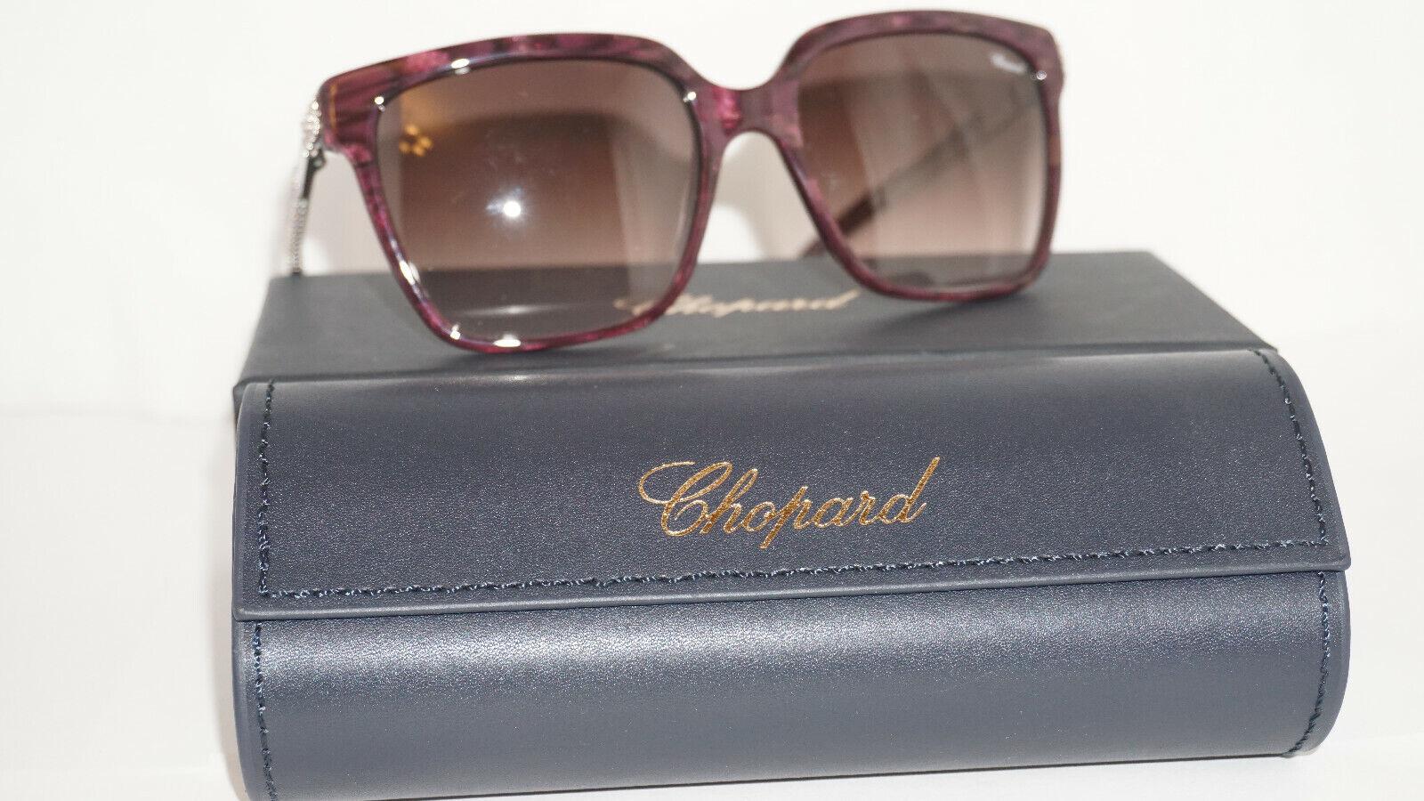 Chopard Sunglasses New Purple Silver Brown SCH208S 0VAA 56 18 130