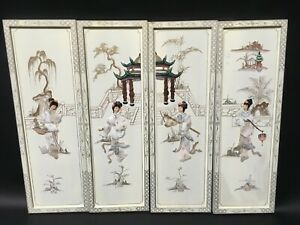 Oriental-Chinese-white-lacquer-frames-wall-plaques-wall-picture-gifts
