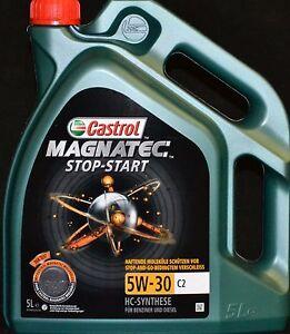 5 liter castrol magnatec stop start 5w 30 c2 motor l. Black Bedroom Furniture Sets. Home Design Ideas