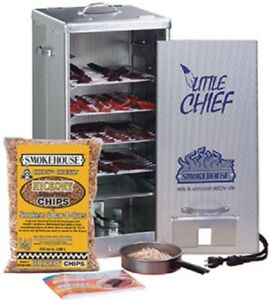 NEW-Smokehouse-Little-Chief-9900-Front-Load-Electric-4-Grill-Meat-Smoker-Cooker