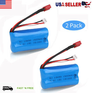 2pcs-2S-7-4V-Lipo-Battery-1500mAh-T-Plug-For-WLtoys-4WD-RC-Cars-Toy-12403-12404