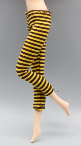 1//6 Dolls stripe Leggings Pants Dress Up for Blythe BJD SD DOD LUTS Doll Yellow