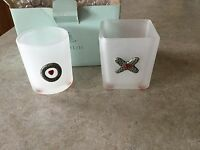 Partylite Hugs & Kisses Votive Holder Pair P7274
