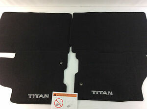 275t8 Blckl Nissan Titan Floor Mats 4 Piece Set New Oem