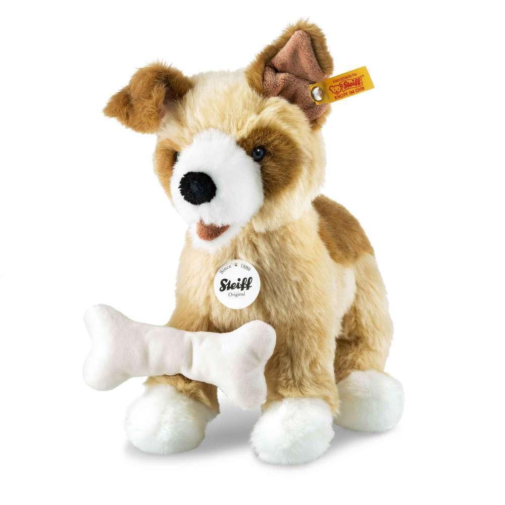 STEIFF 076077 Rico Hund 25cm blond braun Hund Plüsch NEU
