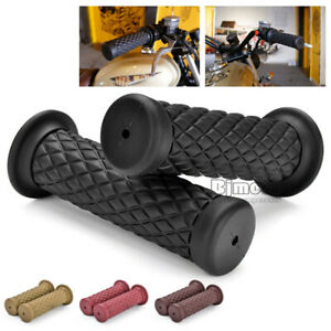 Bicycle Rubber Handlebar Hand Grip Bar End For Motorcycle Bike Cafe Racer NF