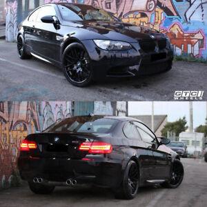 Matte Black BMW >> Details About Gtc Wheels Gt Cs 19 Staggered Matte Black Bmw E46 Sedan Coupe Convertible F