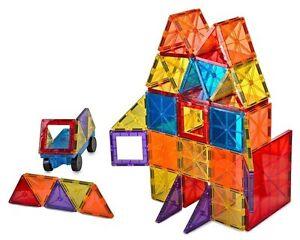 Mag-Genius Magna Award Winning Building Magnet Tiles Set 108/pc + Free Bin