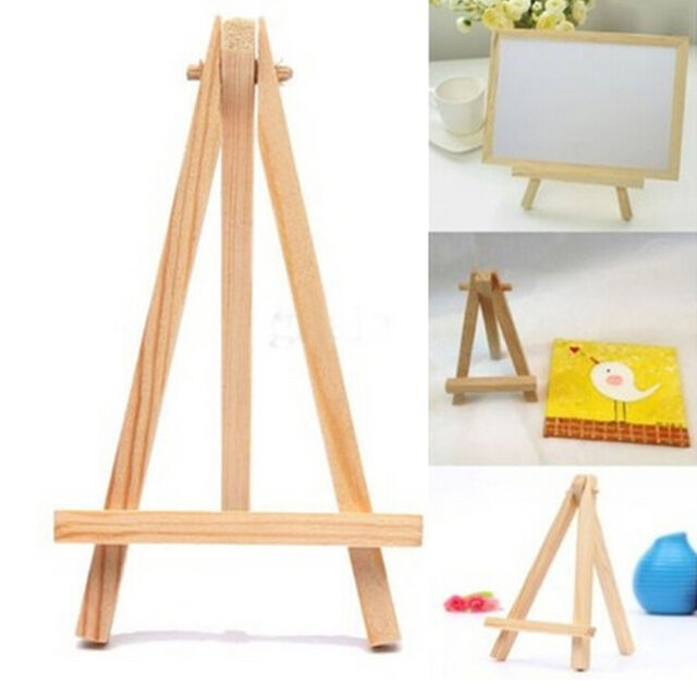 Mini Wooden Cafe Table Number Easel Wedding Place Name Card Holder Stand Ih