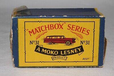 Matchbox Lesney 31 a Ford Station Wagon empty Repro B style Box