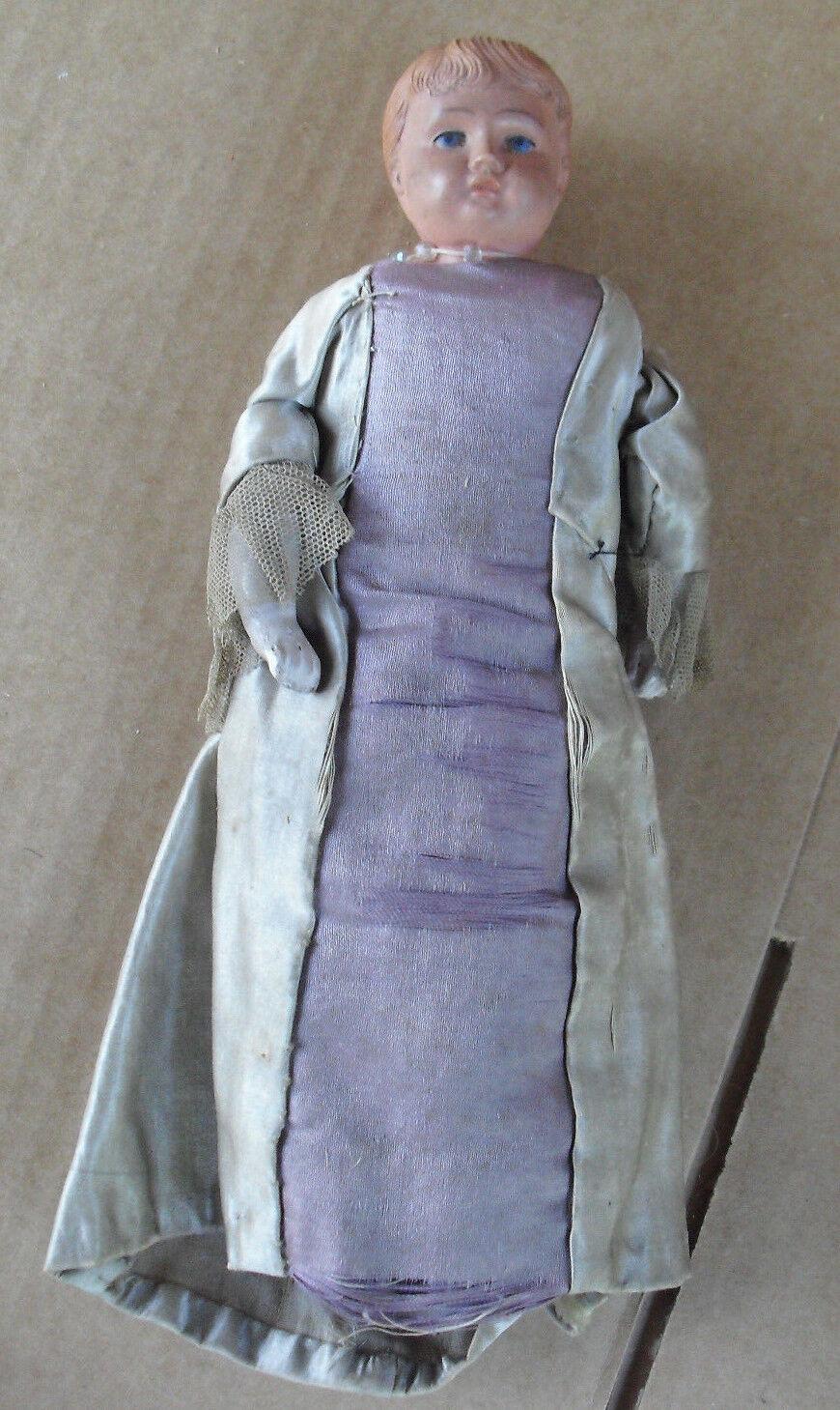 RARE Antique Celluloid Head Cloth  regina Elizabeth bambola 10  Ttutti guarda  clienti prima reputazione prima